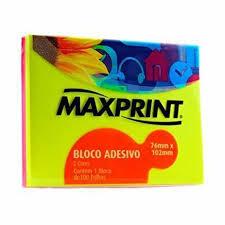 Bloco Adesivo Neon 2 Cores Amarelo/Rosa - Maxprint