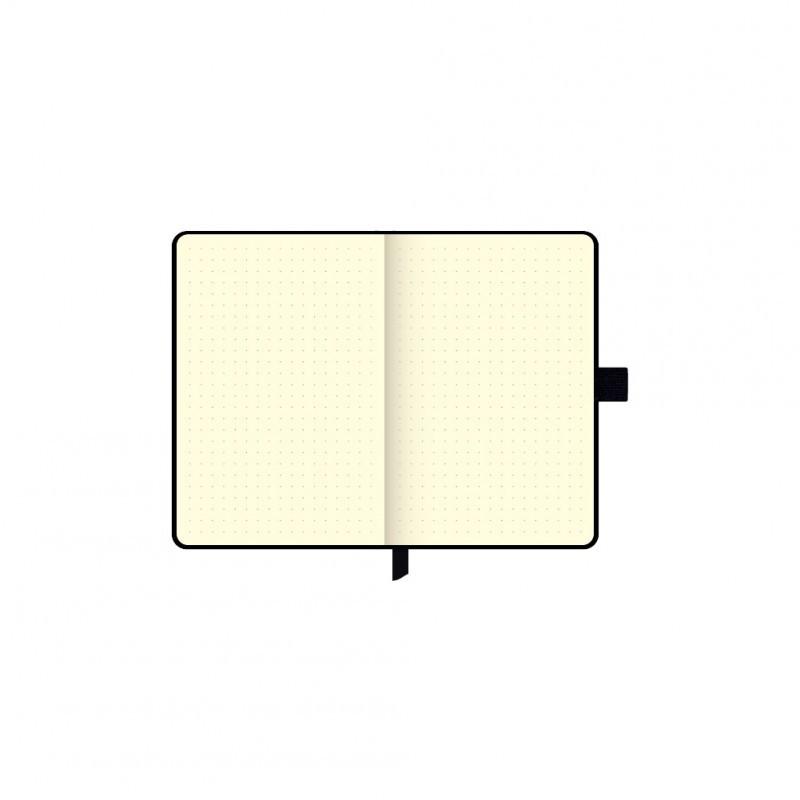 Caderneta mini papertalk  NOIR PENA PAUTADO - 5077-1
