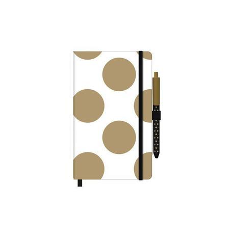 Caderneta Otima Papertalk Gold&Kraft Maxi -Pautado SEM CANETA