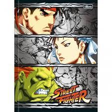 Caderno Brochura Capa Dura Universitário Street Fighter -TILIBRA
