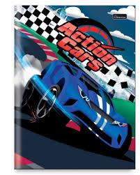 Caderno Brochura Cars Azul