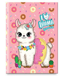 Caderno Brochura I Love Lhama Donuts