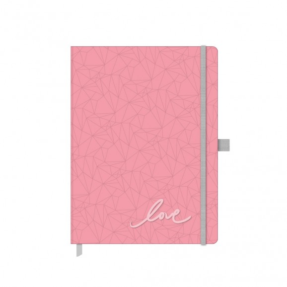Caderno Papertalk Ótima Pink Stone Ultra Pontilhado 4517-3