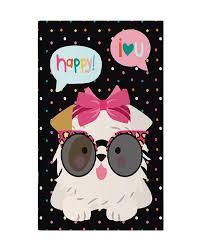 Caderno Pontilhado Happy Dog