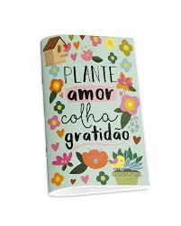 Caderno Pontilhado Plante Amor