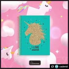 Caderno Unicornio 10 Mat VERDE