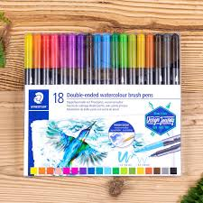 Caneta Brush Dual Staedtler Watercolour 18 Cores