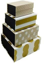 Kit Caixa Kraft Gold Quadrada