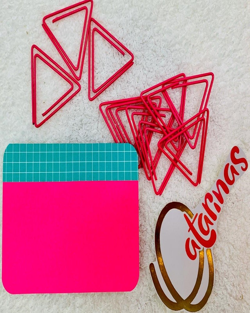 Kit Notas e Clips Pink
