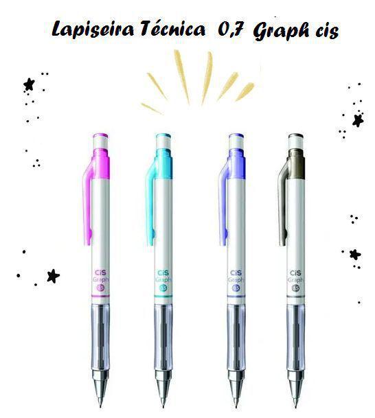 Lapiseira Técnica 0.7 Mm Graph Mettalic Colors -Cis
