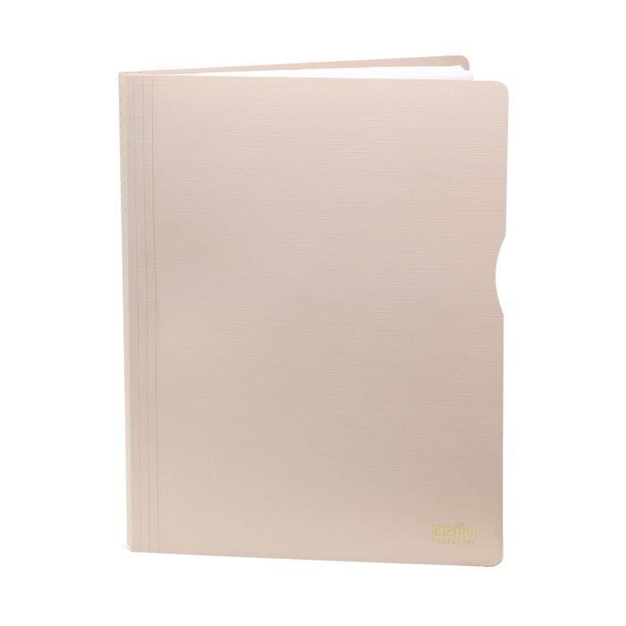 Pasta Catálogo A4 Executive com 50 Plásticos- CREME
