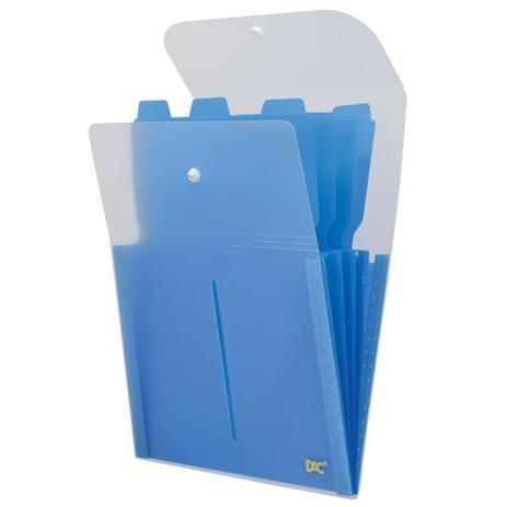 Pasta Sanfonada  Vertical  Soft 5 Divisões Azul Dac