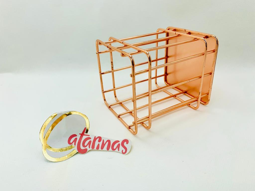 Porta Lápis ROSE GOLD - QUADRADO