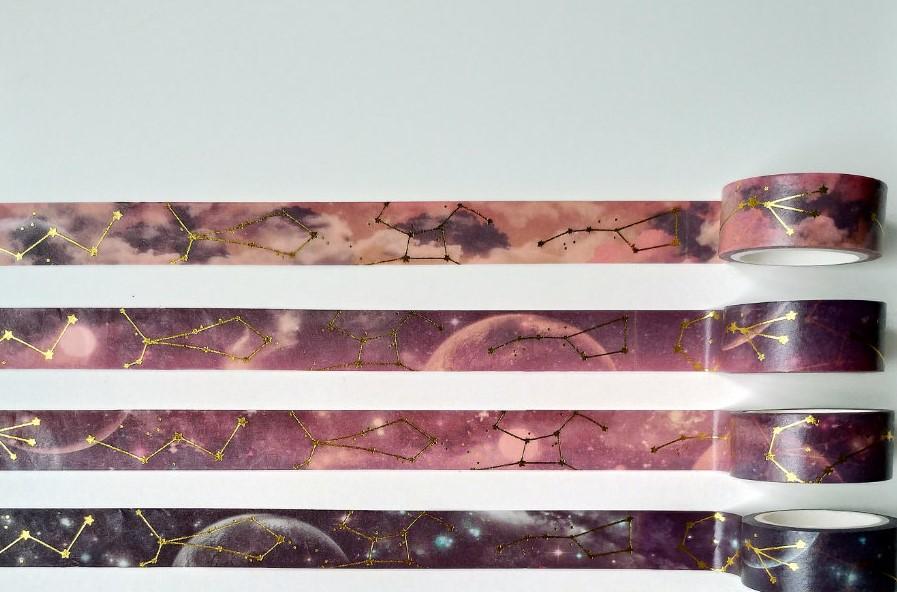 Washi Tape 4 Unidades Galaxia