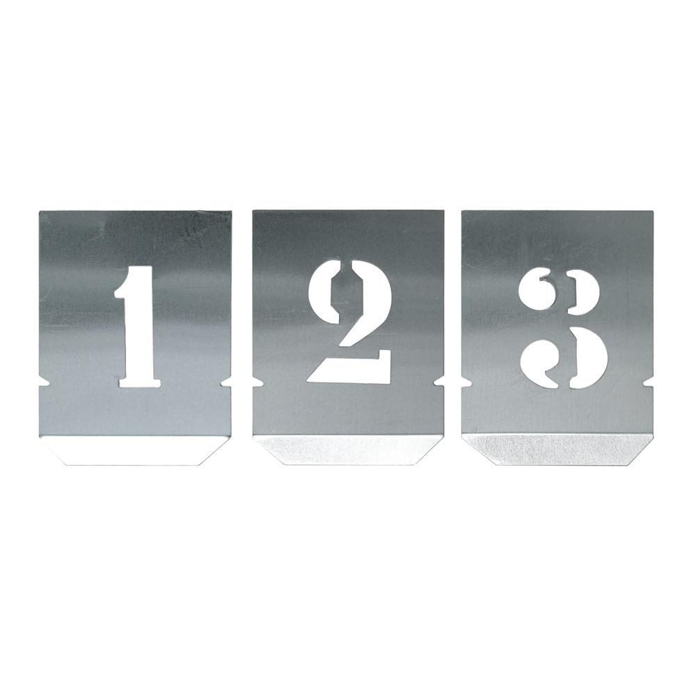 ALGARISMO VAZADO EM CHAPA P/ PINTURA 80MM  NOLL 136.0004
