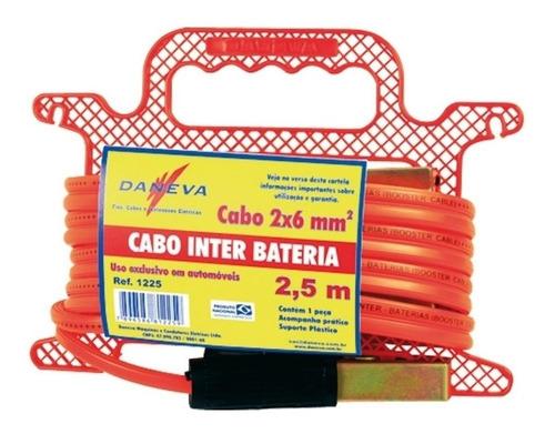 CABO CHUPETA PARA CARREGADOR BATERIA 2 X 6MM X 2,5 MT DANEVA 1225