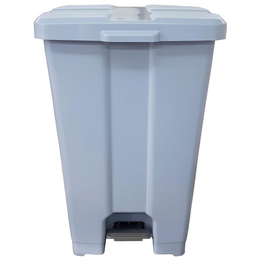 LIXEIRA PLAST. QUADRADO 60L C/ PEDAL REF: P60- CINZA