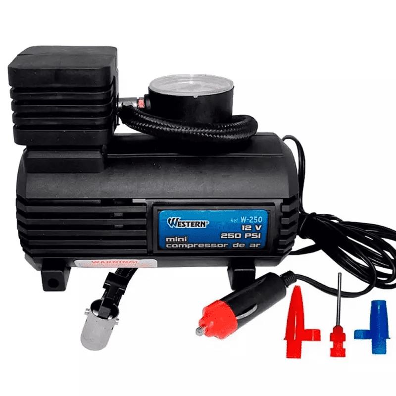 MINI COMPRESSOR DE AR 12V 250PSI WESTERN W250