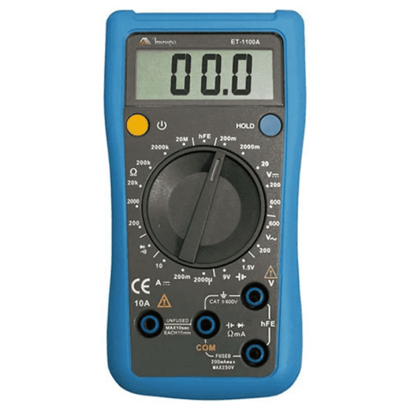 MINIPA ET-1100A MULTIMETRO DIGITAL 3.1/2 TESTE BATERIA/CORR