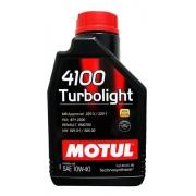 Óleo de Motor Motul 4100 10w40 Turbolight 1L