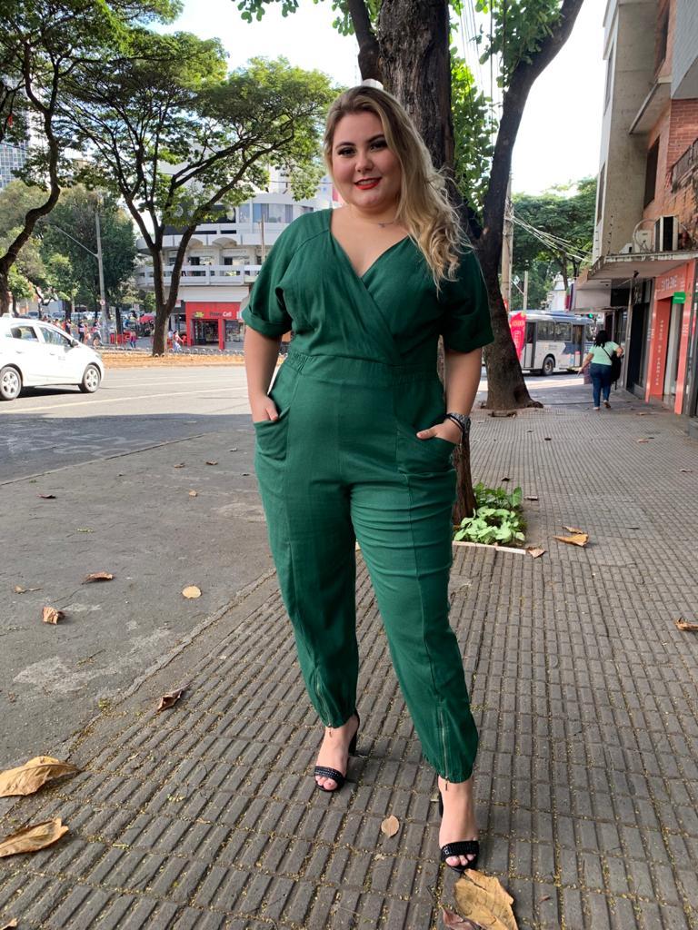 MACACÃO LINHO PLUS SIZE
