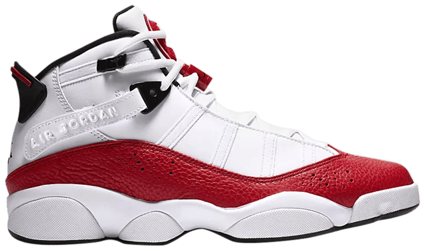 Tênis Air Jordan 6 Rings White University Red