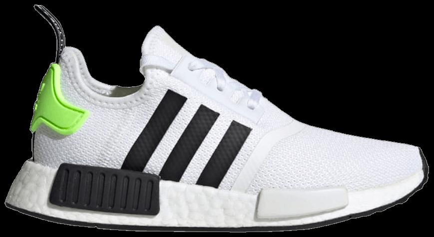 Tênis Adidas NMD_R1 White Black Signal Green