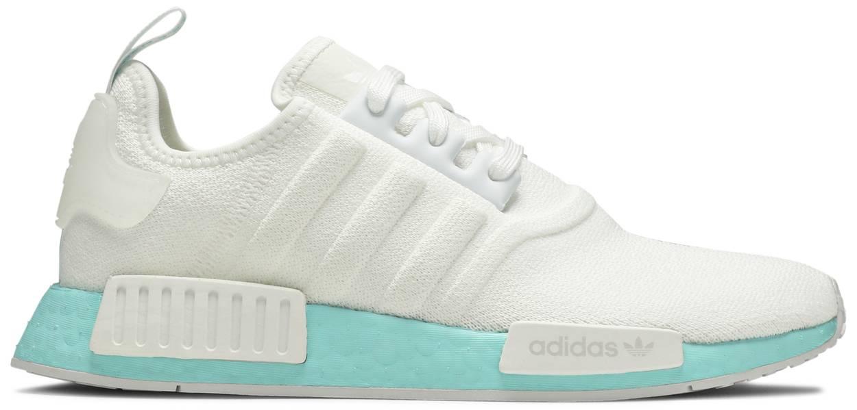 Tênis Adidas NMD_R1 White Clear Aqua
