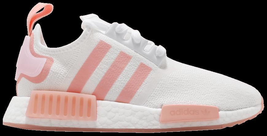 Tênis Adidas NMD_R1 White Haze Coral