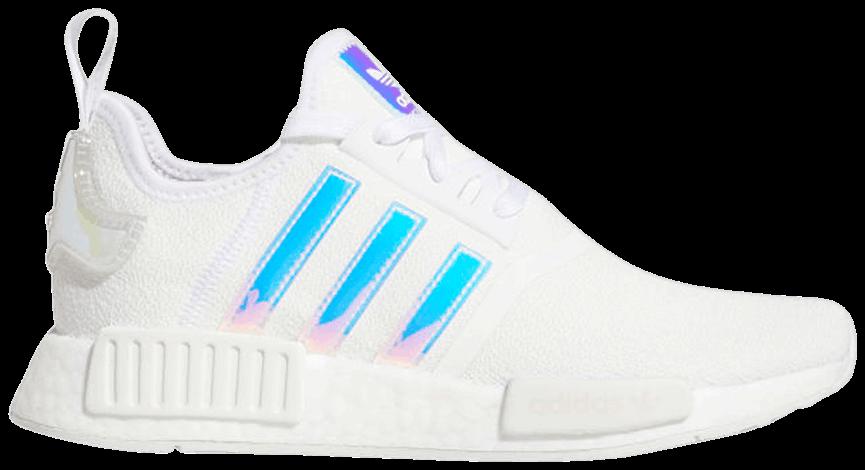Tênis Adidas NMD_R1 White Iridescent