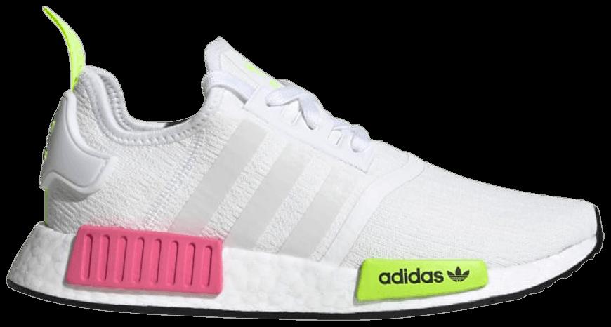 Tênis Adidas NMD_R1 White Slime Pink