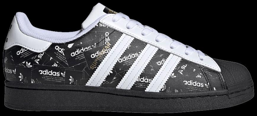 Tênis Adidas Superstar All Over Print - Black