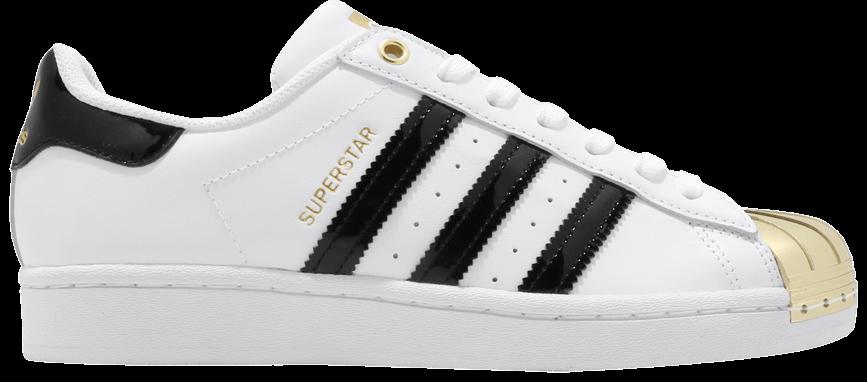 Tênis Adidas Superstar Metal Toe White Gold Metallic
