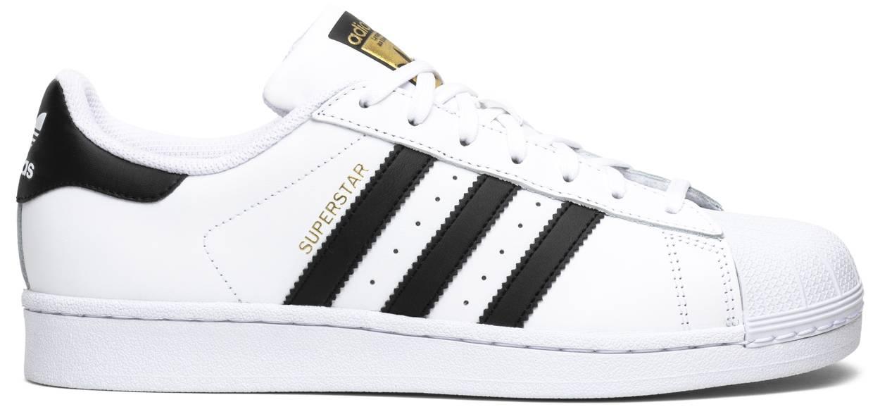 Tênis Adidas Superstar White Black