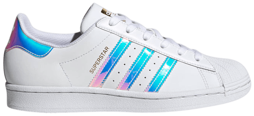 Tênis Adidas Superstar White Iridescent