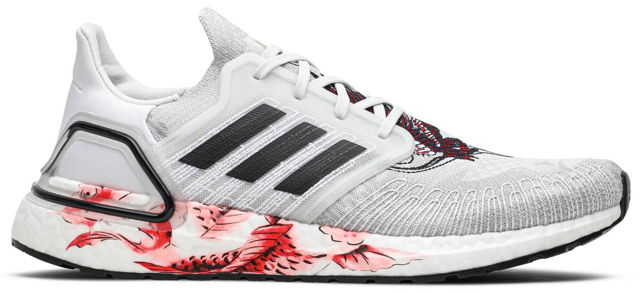 Tênis Adidas UltraBoost 20 Chinese New Year - Grey Floral