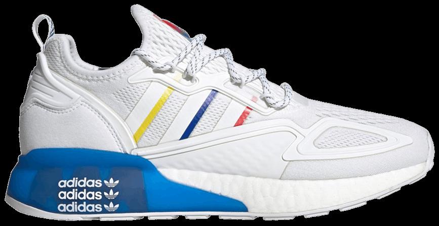 Tênis Adidas ZX 2K Boost Footwear White Blue