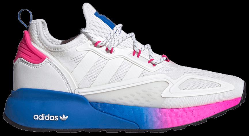 Tênis Adidas ZX 2K Boost White Pink Blue