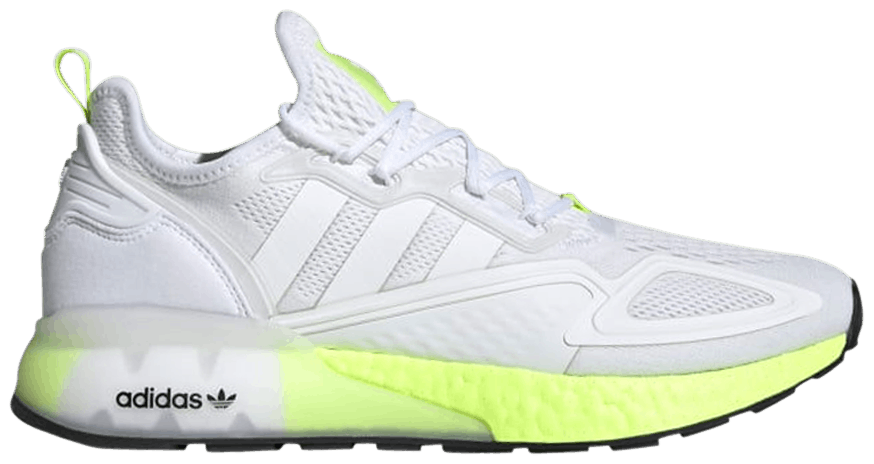 Tênis Adidas ZX 2K Boost White Solar Yellow