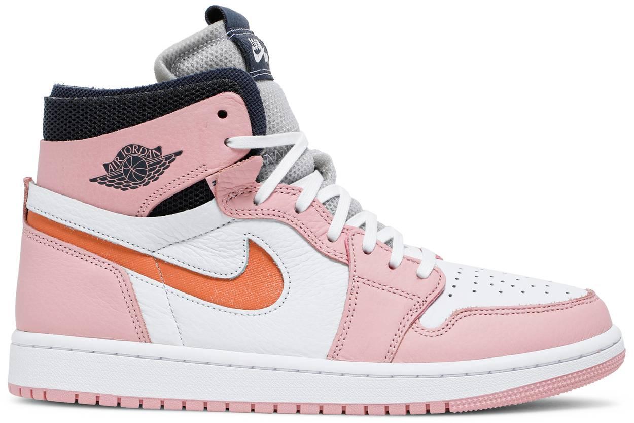 Tênis  Air Jordan 1 High Zoom Pink Glaze