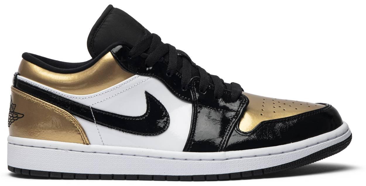 Tênis Air Jordan 1 Low Gold Toe