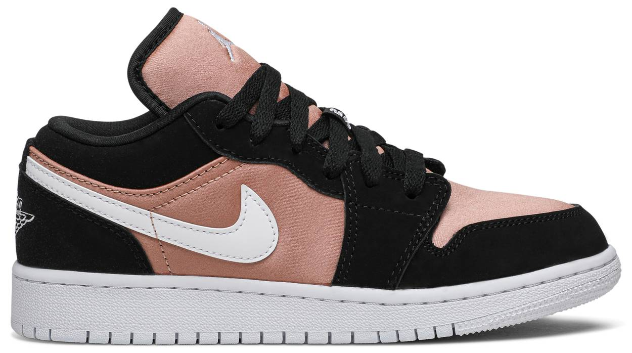 Tênis Air Jordan 1 Low GS White Rose Gold