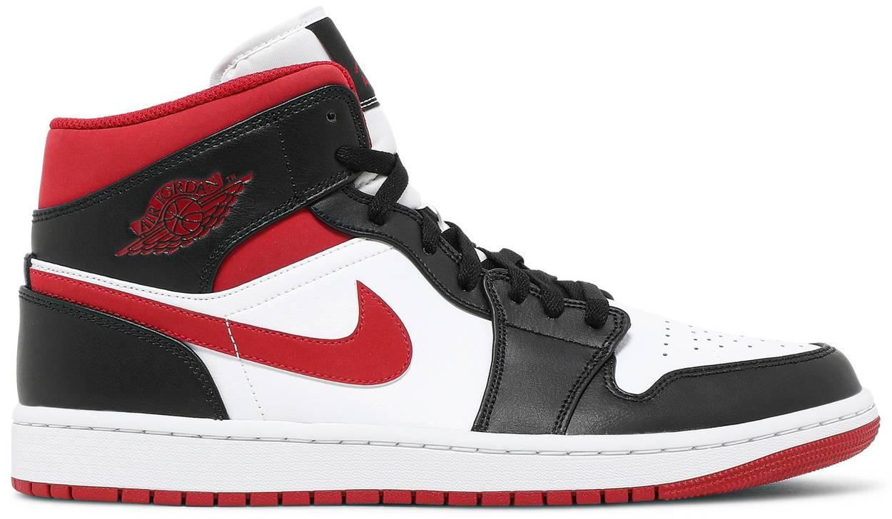 Tênis  Air Jordan 1 Mid Black Gym Red