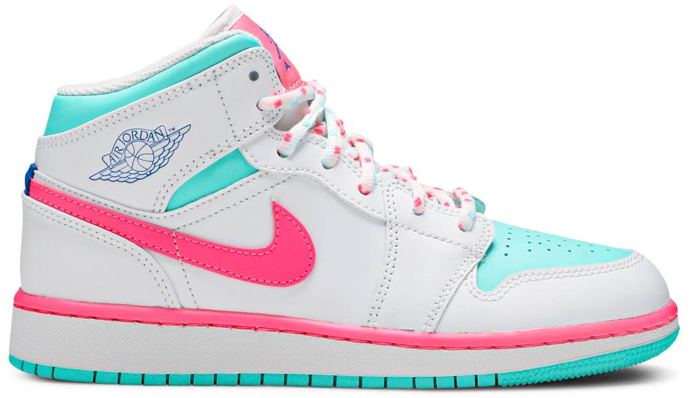 Tênis Air Jordan 1 Mid GS Digital Pink