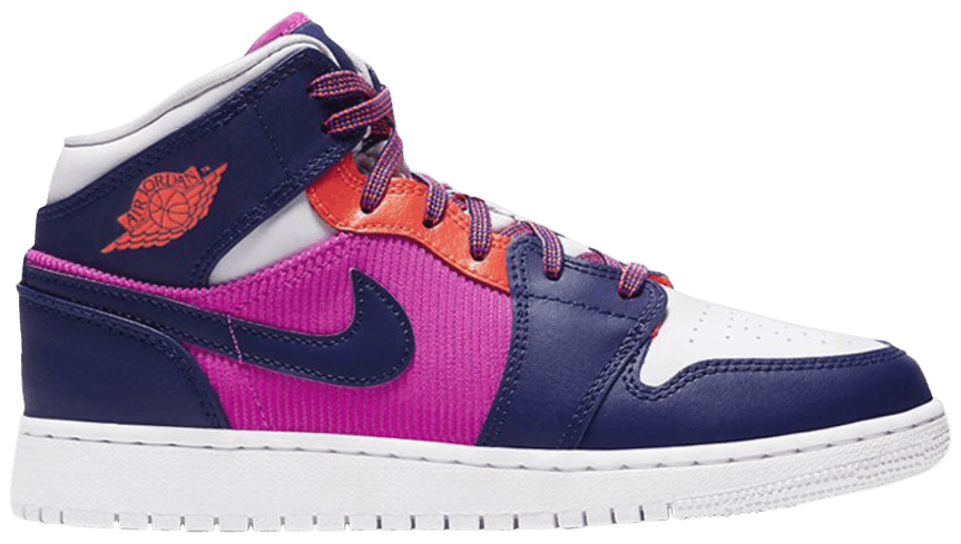 Tênis Air Jordan 1 Mid GS Fire Pink