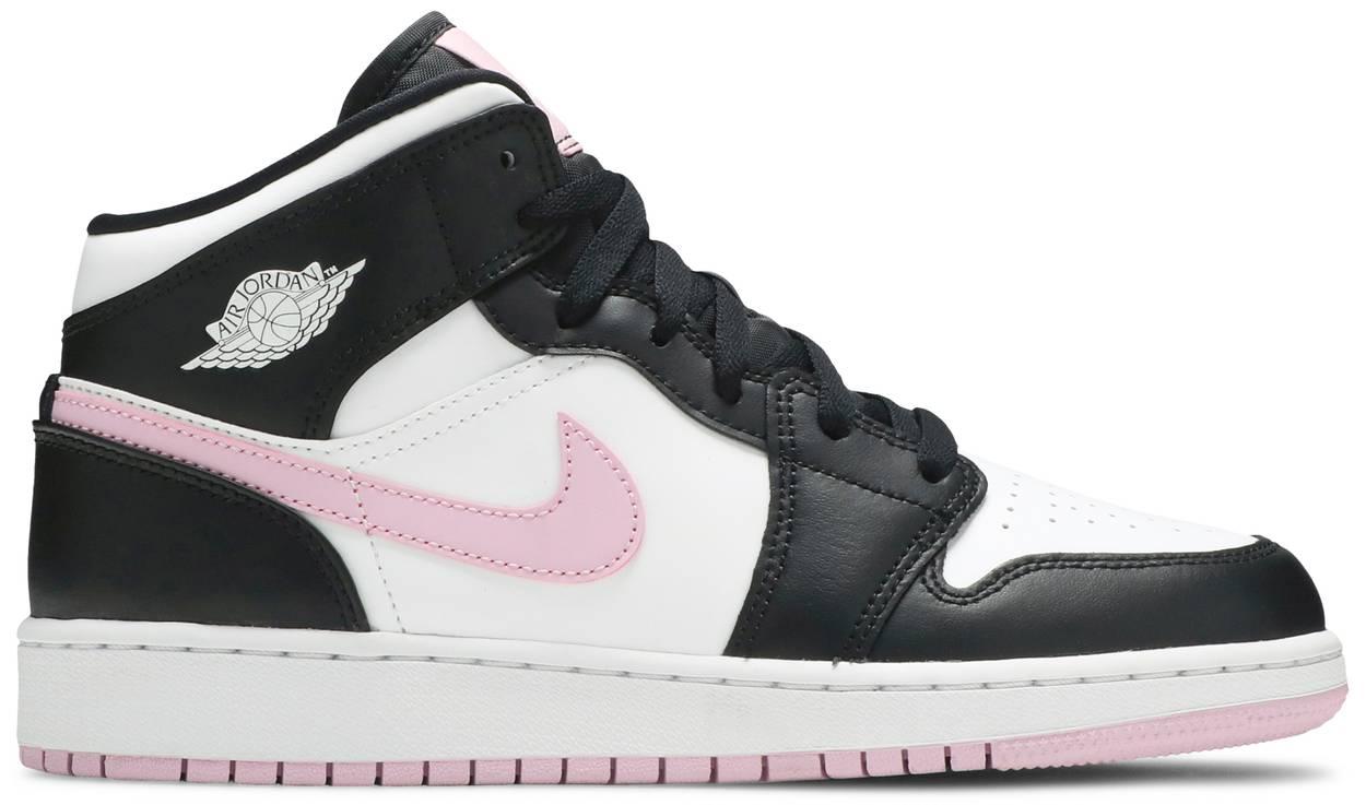 Tênis Air Jordan 1 Mid GS White Light Arctic Pink