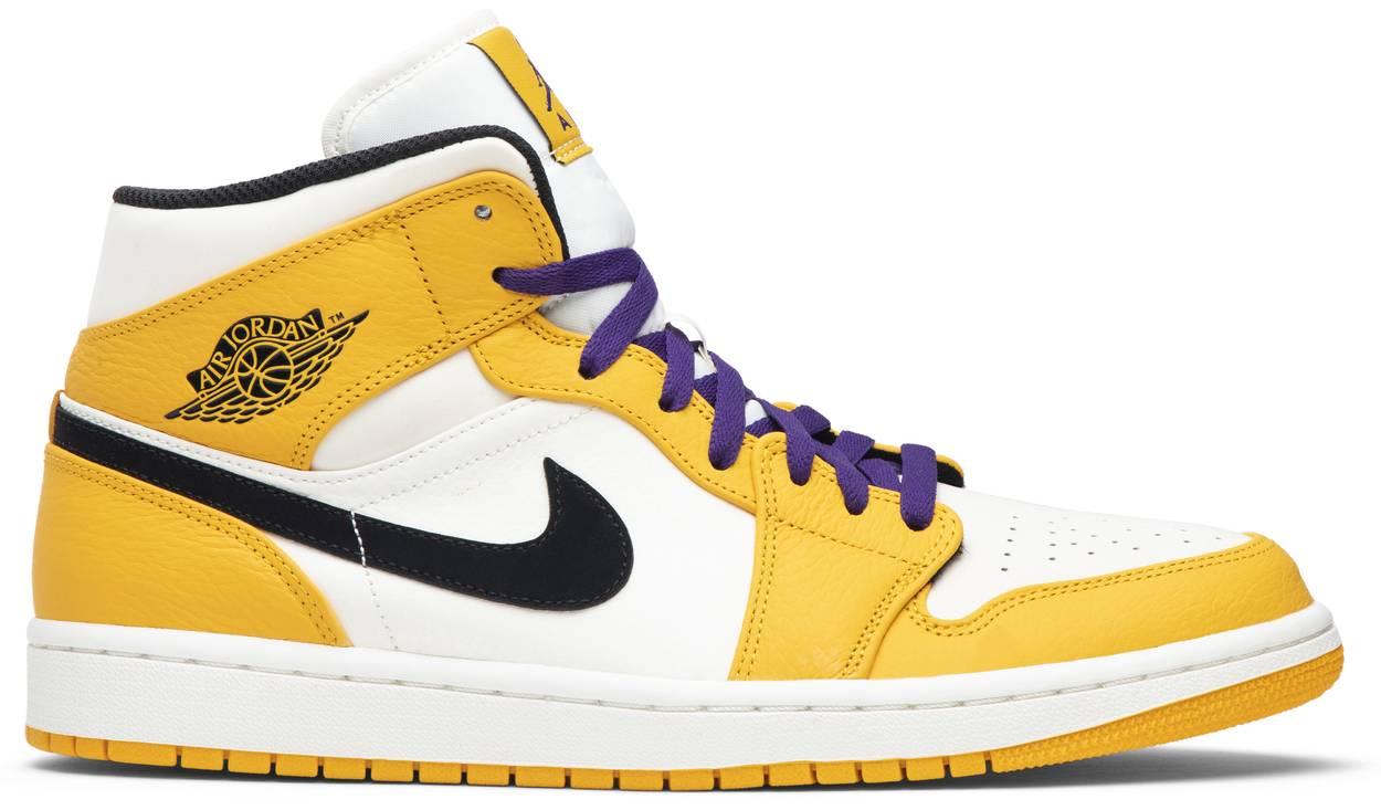 Tênis Air Jordan 1 Mid Lakers