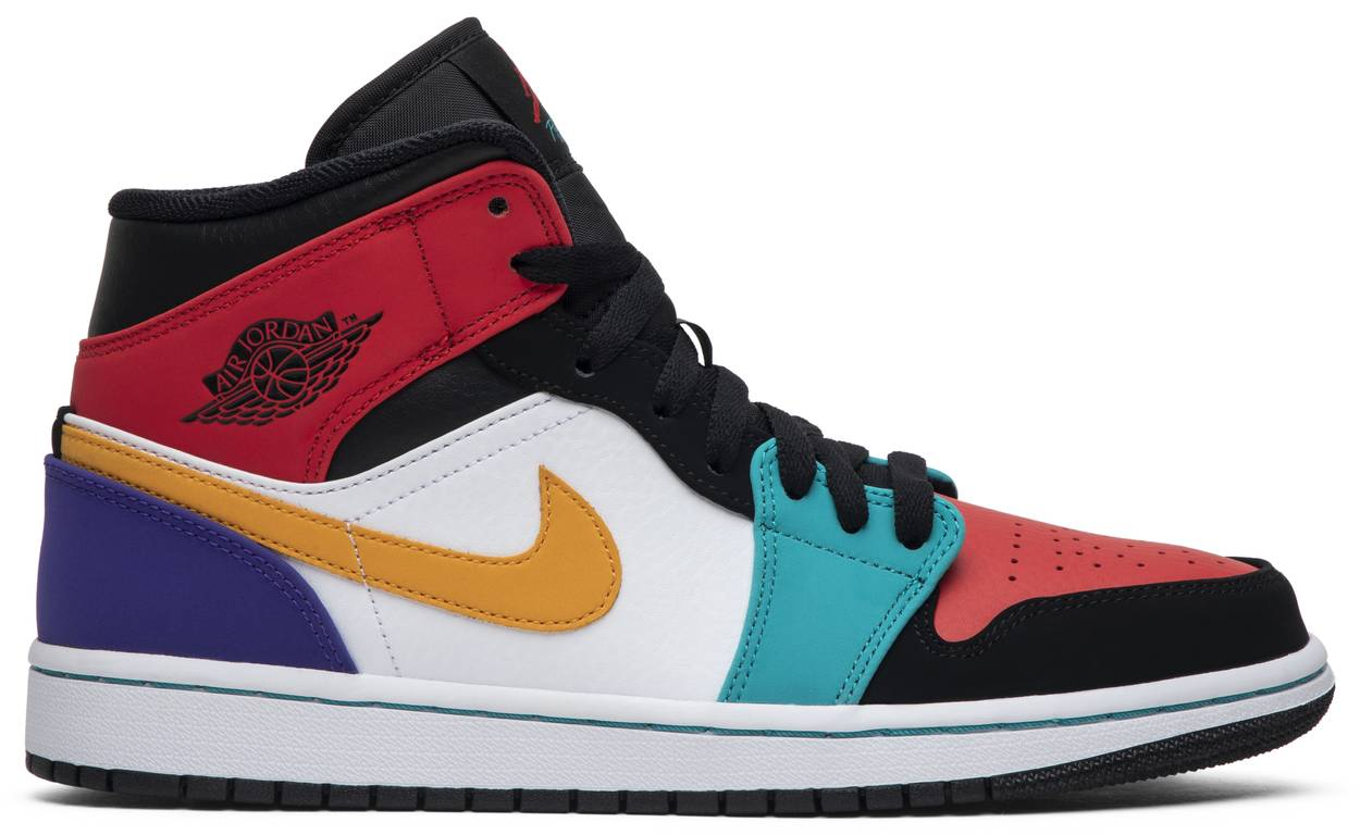 Tênis Air Jordan 1 Mid Multi-Color