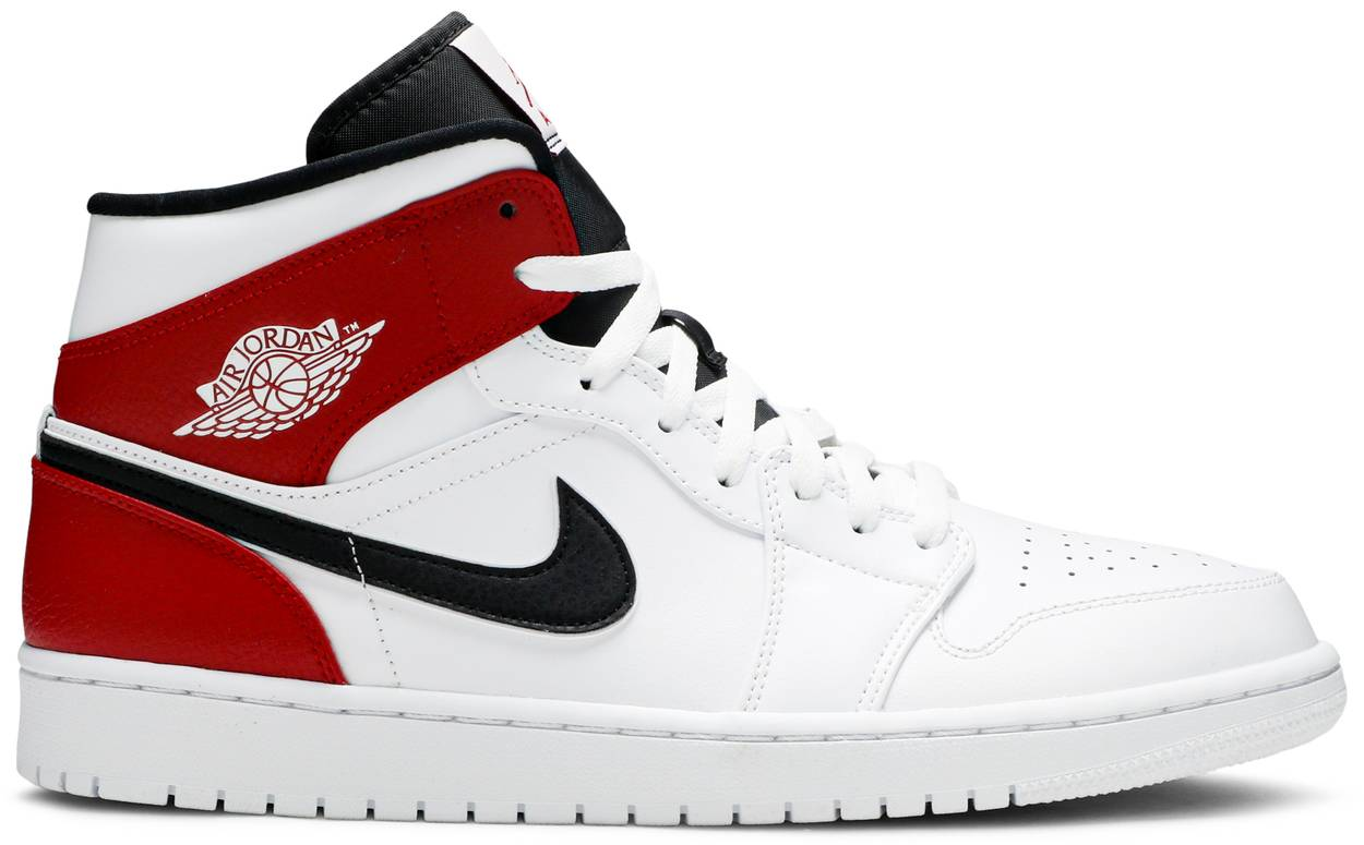 Tênis Air Jordan 1 Mid White Chicago