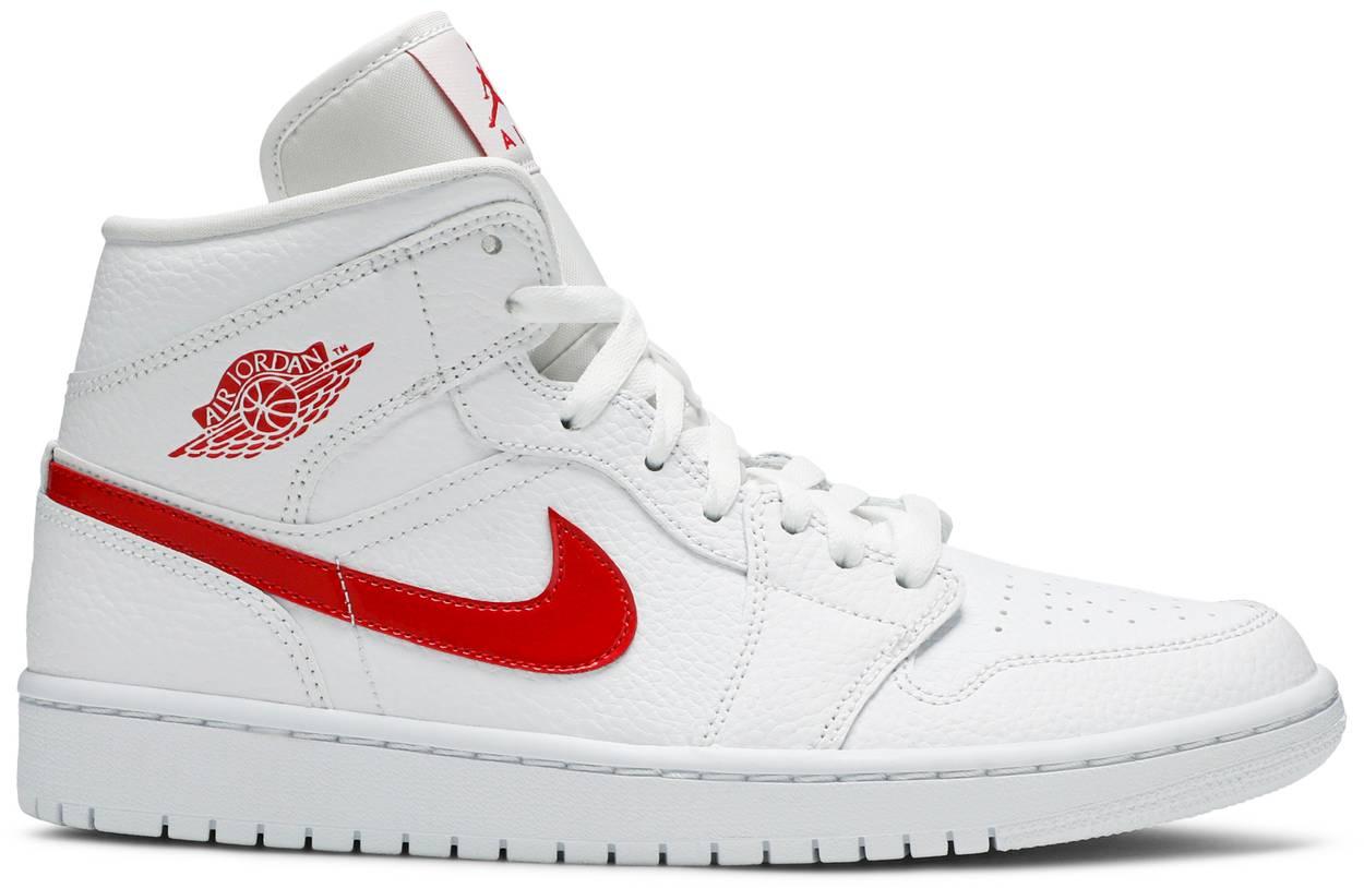 Tênis Air Jordan 1 Mid White University Red